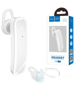 Bluetooth гарнитура Hoco Mono E32 белая
