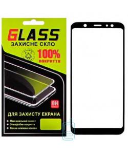 Защитное стекло Full Screen Samsung A6 Plus 2018 A605 black Glass
