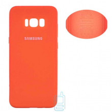 Чехол Silicone Cover Full Samsung S8 Plus G955 оранжевый