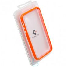 Чехол-бампер Apple iPhone 4 пластик оранжевый