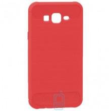 Чехол силиконовый Polished Carbon Samsung J7 2015 J700, J7 Neo J701 красный