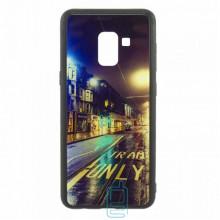 Чехол накладка Glass Case New Samsung A8 2018 A530 дорога