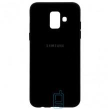 Чехол Silicone Case Full Samsung A6 2018 A600 черный