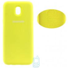Чехол Silicone Cover Full Samsung J5 2017 J530 желтый