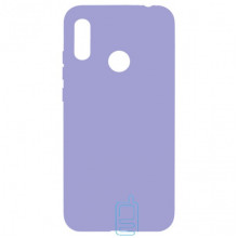 Чехол Silicone Cover Full Huawei Y7 2019, Y7 Prime 2019 сиреневый