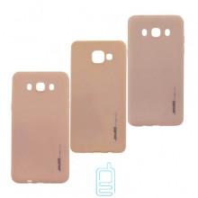 Чехол силиконовый SMTT Samsung A7 2017 A720 персиковый