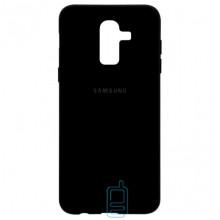 Чехол Silicone Case Full Samsung J8 2018 J810 черный