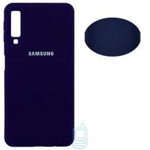 Чехол Silicone Cover Full Samsung A7 2018 A750 синий