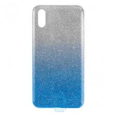 Чехол силиконовый Shine Huawei Y6 2019 градиент синий