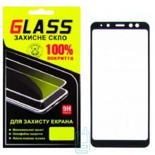 Защитное стекло Full Glue Samsung A8 2018 A530 black Glass