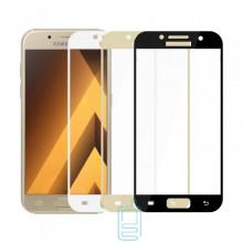 Защитное стекло Full Screen Samsung A7 2017 A720 gold тех.пакет
