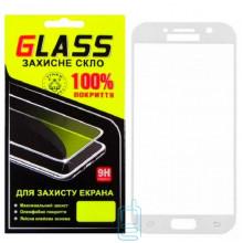 Защитное стекло Full Screen Samsung A5 2017 A520 white Glass