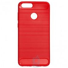 Чехол силиконовый Polished Carbon Huawei Honor 7X красный