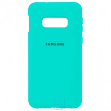 Чехол Silicone Case Full Samsung S10E G970 бирюзовый