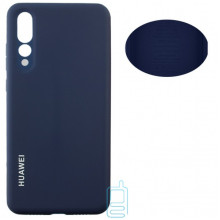Чехол Silicone Cover Full Huawei P20 Pro, P20 Plus синий