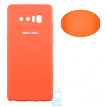 Чехол Silicone Cover Full Samsung Note 8 N950 оранжевый