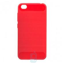 Чехол силиконовый Polished Carbon Xiaomi Redmi Go красный