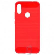 Чехол силиконовый Polished Carbon Xiaomi Redmi Note 7, Redmi Note 7 Pro красный