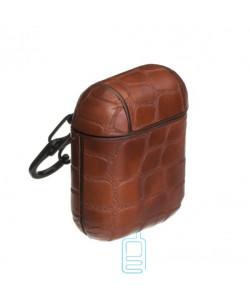 Футляр для наушников Airpod Kroco коричневый