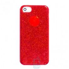 Чехол силиконовый Shine Apple iPhone 5, 5S красный