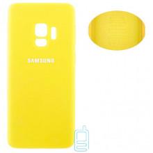 Чехол Silicone Cover Full Samsung S9 G960 желтый