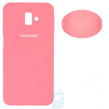 Чехол Silicone Cover Full Samsung J6 Plus 2018 J610 розовый