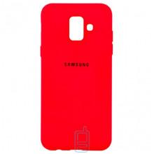 Чехол Silicone Case Full Samsung A6 2018 A600 красный