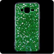 Чехол силиконовый Конфетти Samsung J3 2015 J300 зеленый