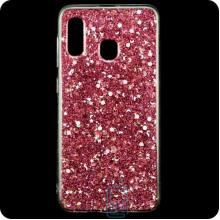 Чехол силиконовый Конфетти Samsung A40 2019 A405 розовый