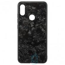 Чехол накладка Glass Case Мрамор Huawei P Smart Plus черный