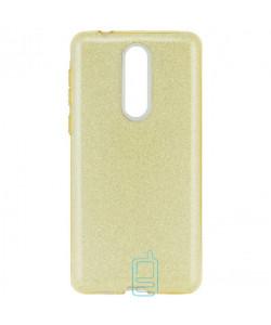 Чехол силиконовый Shine Nokia 8 золотистый