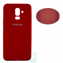 Чехол Silicone Cover Full Samsung J8 2018 J810 красный