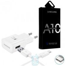 Сетевое зарядное устройство Samsung A10 Fast charger 5V-2A 9V-1.6A 2in1 Type-C white
