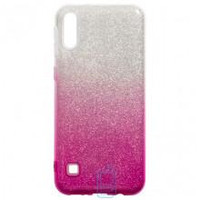 Чехол силиконовый Shine Samsung M10 2019 M105 градиент розовый