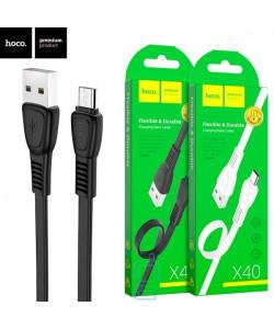 """USB кабель Hoco X40 ″Noah"""" micro USB 1m черный"""