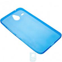 Чехол силиконовый цветной Nokia Lumia 640 XL синий