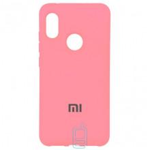 Чехол Silicone Case Full Xiaomi Mi 8 розовый