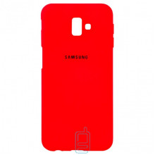 Чехол Silicone Case Full Samsung J6 Plus 2018 J610 красный