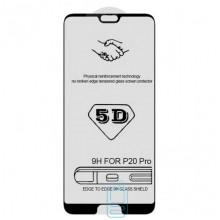 Защитное стекло 5D Huawei P20 black тех.пакет