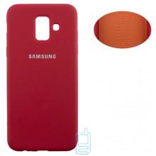 Чехол Silicone Cover Full Samsung A6 2018 A600 красный