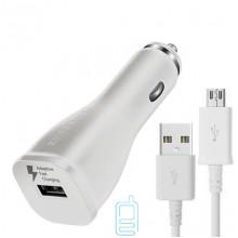 Автомобильное зарядное устройство Samsung Fast charger 1USB 2.0A micro-USB тех.пак. high copy white
