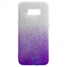 Чехол силиконовый Shine Samsung S8 Plus G955 градиент фиолетовый