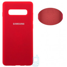 Чехол Silicone Cover Full Samsung S10 Plus G975 красный