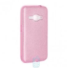 Чехол силиконовый Shine Samsung J1 2016 J120 розовый