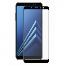 3D Стекло Samsung Galaxy A8 2018 A530 – Full Glue (black/gold)