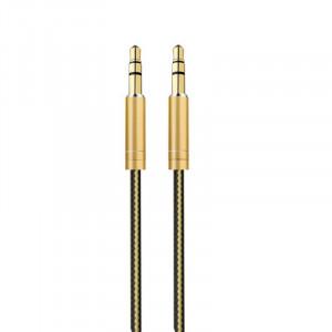 AUX Кабель 3.5mm LDNIO LS-Y01 – 1 м (Золотой)