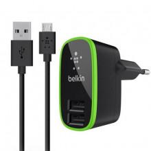 СЗУ + Micro USB Belkin 2USB 2.1A F8M670krBLK (Черный)