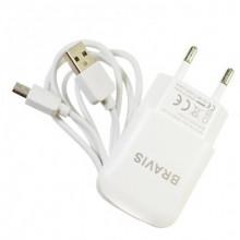 СЗУ + Micro USB Bravis 5V 2.1A (Белый)