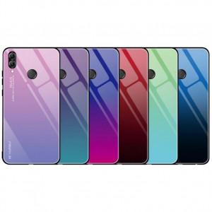 Чехол Huawei Honor 8X градиент TPU+Glass