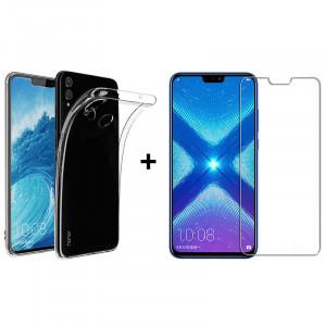 Чехол + Стекло Huawei Honor 8X (Комплект)